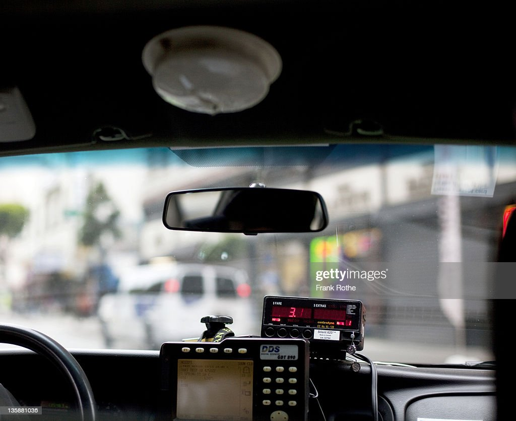 a dashboard in taxi