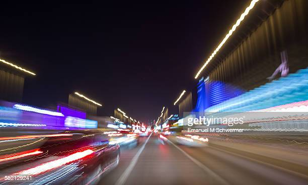 POV of a driving car during night in a city