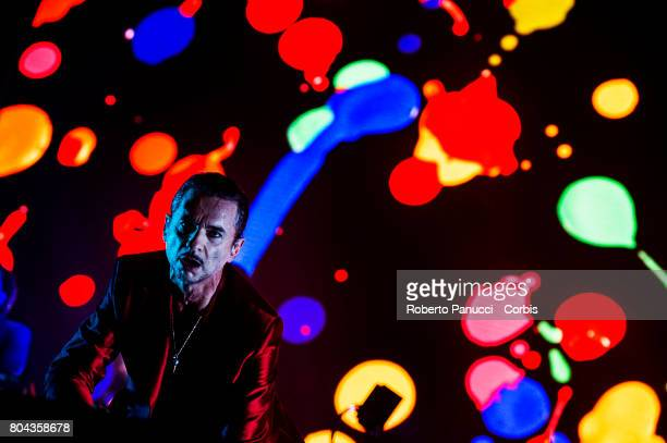 a english electronic rock band Depeche Mode performs in concert at Olympic Stadium on June 25 2017 in Rome Italy