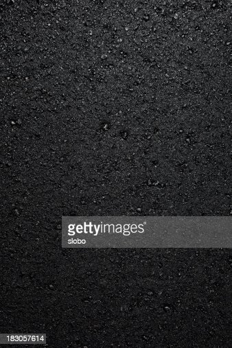 a fresh layer of new hot asphalt