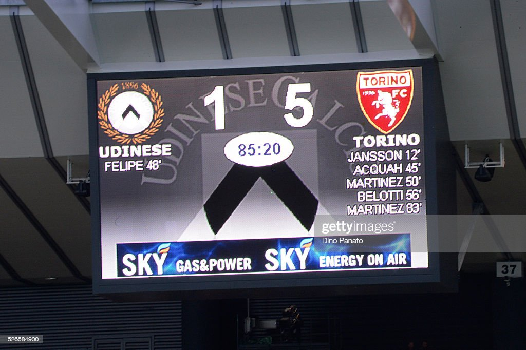 a general view during the Serie A match between Udinese Calcio and Torino FC at Dacia Arena on April 30, 2016 in Udine, Italy.