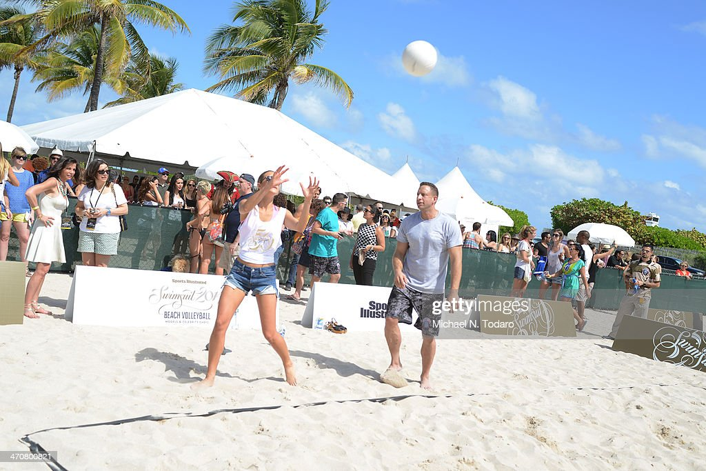 a general view of atmosphere at Chefs + Models Volleyball Tournament during the Food Network South Beach Wine & Food Festival on February 20, 2014 in Miami, Florida.