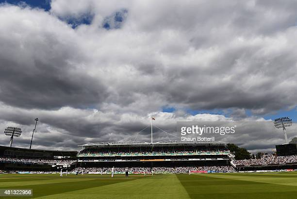 a general view of play during day four of the 2nd Investec Ashes Test match between England and Australia at Lord's Cricket Ground on July 19 2015 in...