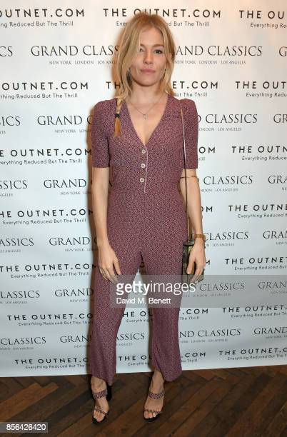 a Grand Classics screening of Saturday Night Fever hosted by Sienna Miller in association with THE OUTNET at The Electric Cinema on October 1 2017 in...