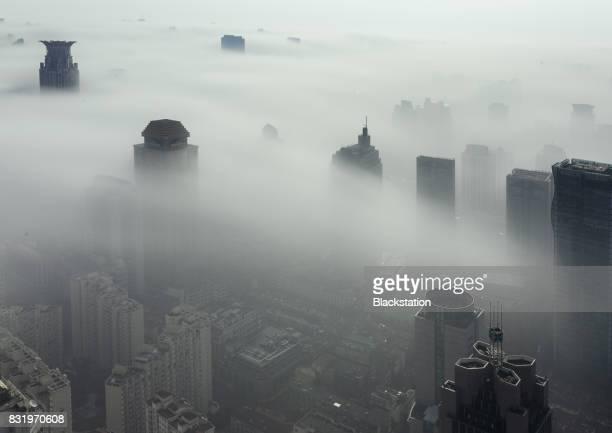 a hazy day in Shanghai