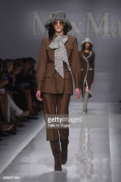a model walks the runway during the Max Mara show as part of Milan Fashion Week Womenswear Spring/Summer 2015 on September 18 2014 in Milan Italy