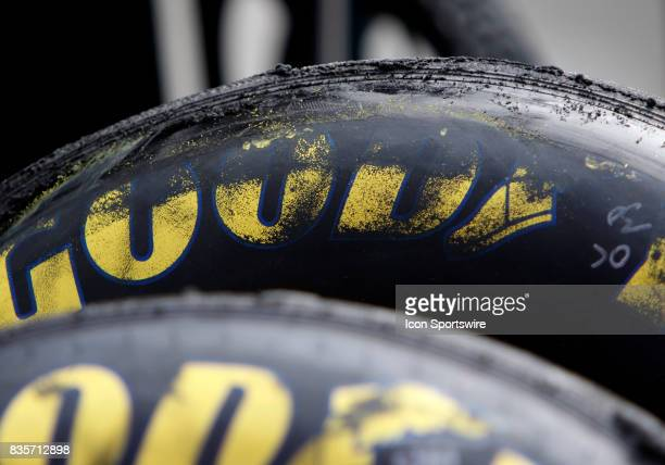 a pair of Goodyear Tires during practice for the Bass Pro Shop NRA 500 at Bristol Motor Speedway on August 18 2017 Photo by Jeff Robinson/Icon...