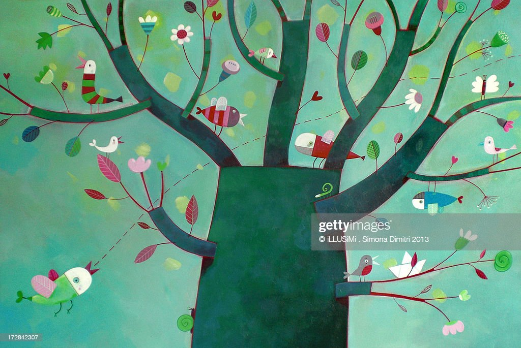 a party on the tree : Stock Photo