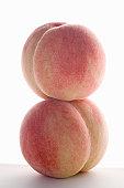 a peach on a peach