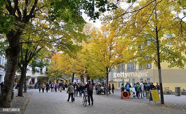 a pedestrian zone in Weimar