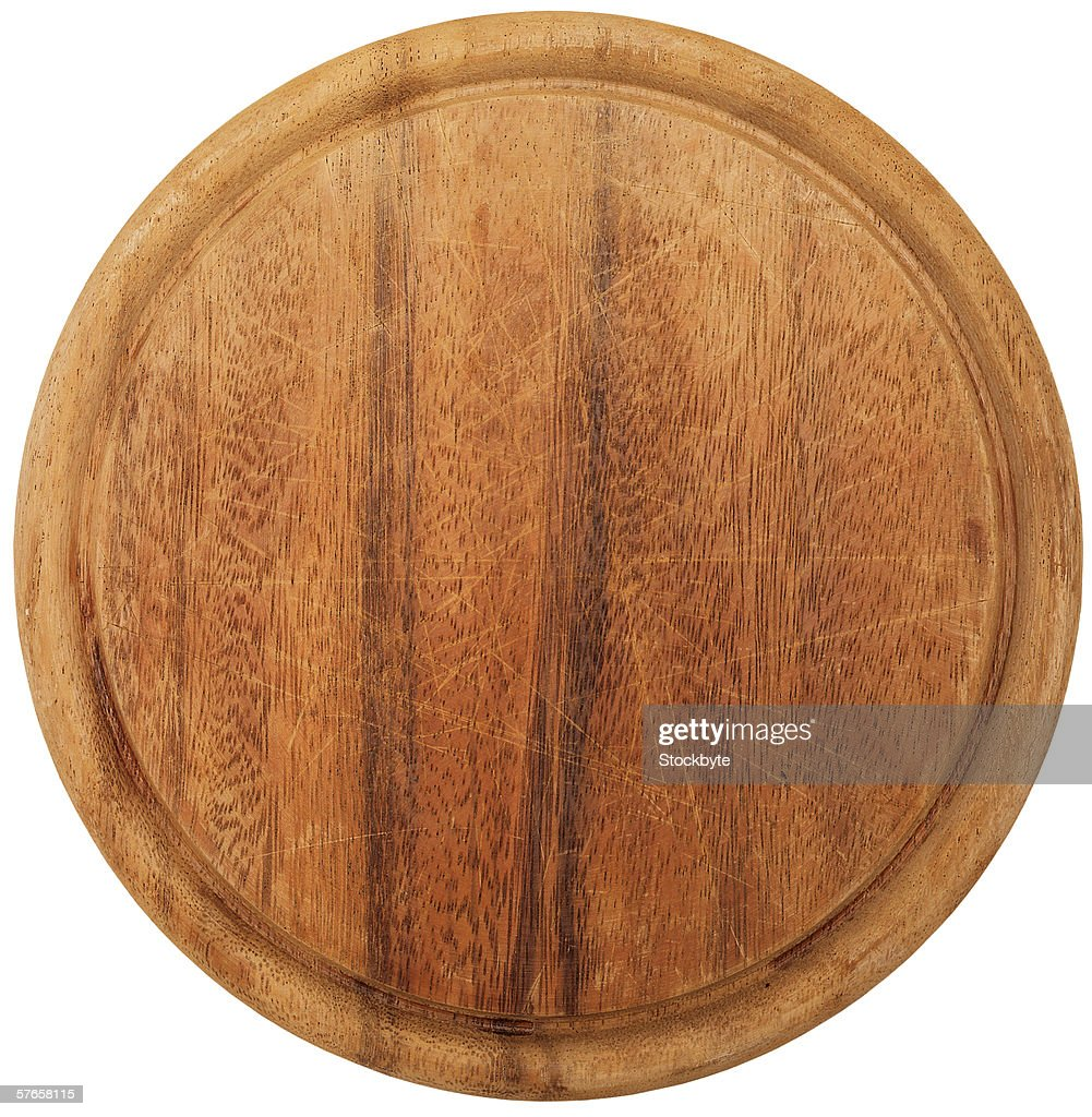 a round wooden table top