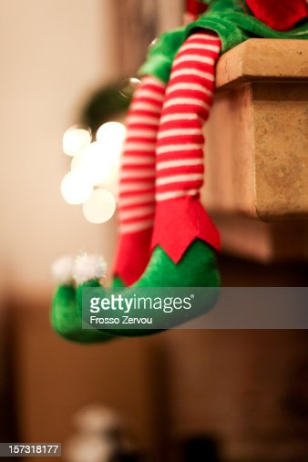 a sitting elf