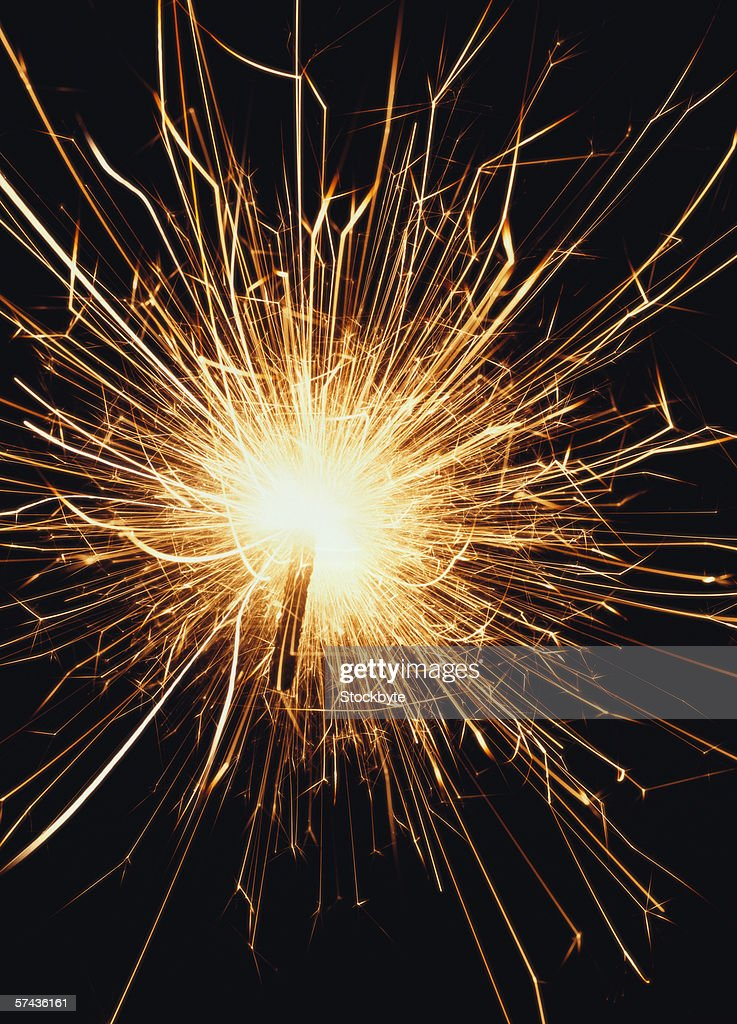 a sparkler alight : Stock Photo