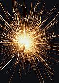 a sparkler alight