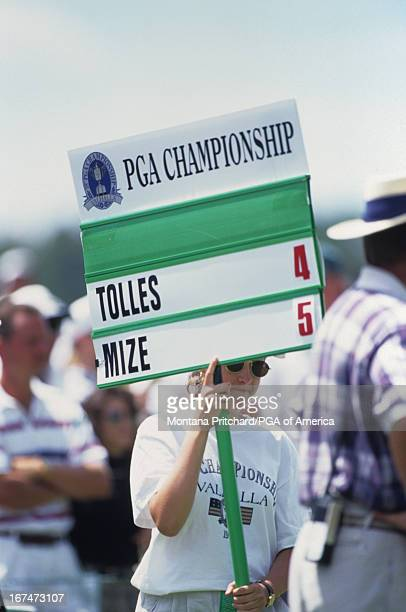 a standard bearer during the 78th PGA Championship held at Valhalla Golf Club in Louisville Kentucky Saturday August 10 1996
