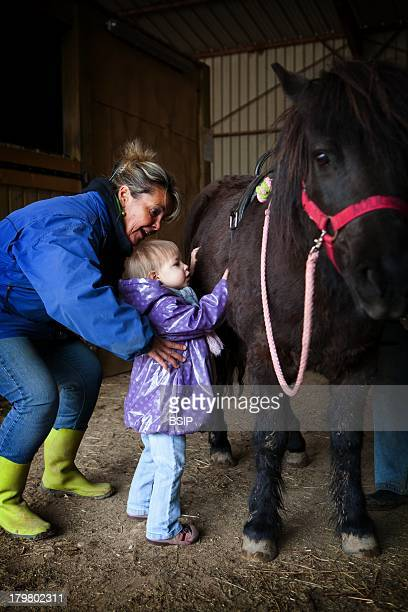 EQUISENS a therapeutic riding center in AsnierelesDijon France Hippotherapy session with a child having autistic disorders and the PhelanMcDermid...