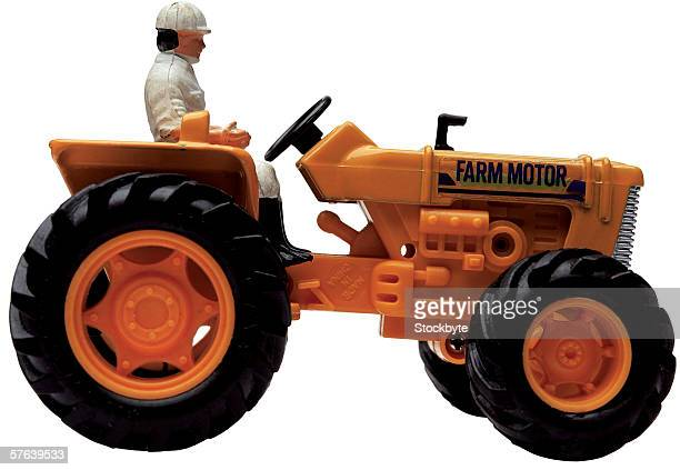 a toy tractor