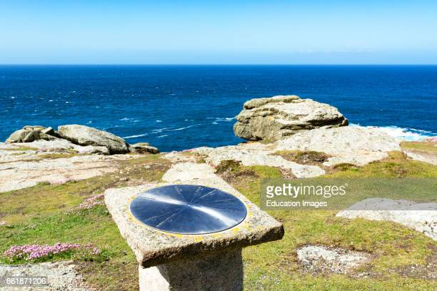 a ñ trig ñ point is a fixed surveying station at gwennap head on the coast of Cornwall England UK