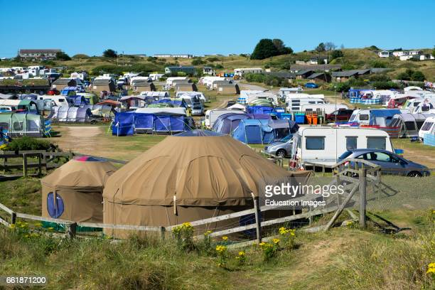 a typical camping site in Cornwall England Britain UK