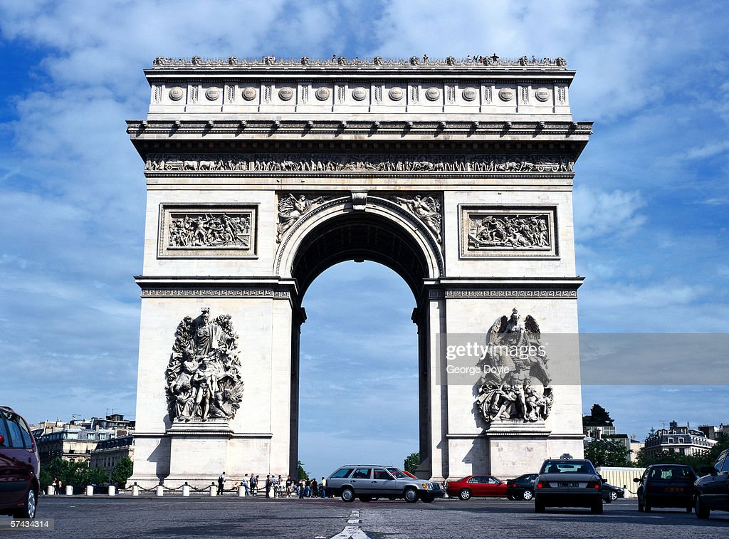 a view of the arc de triomphe in paris stock photo getty images. Black Bedroom Furniture Sets. Home Design Ideas