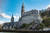 a view of the Basilica of Our Lady of Lourdes