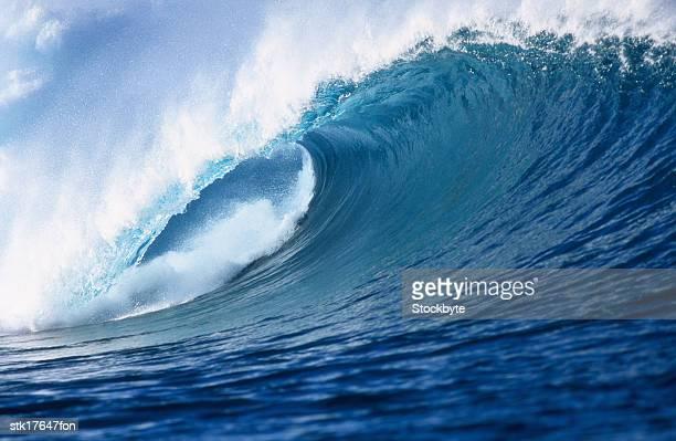 a wave crashing