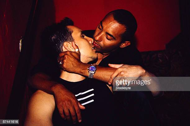 Gay black men kissing