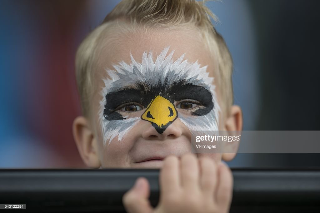 a young supporter of Vitesse during the first training session of the season 2016/2017 on June 26, 2016 at Papendal, The Netherlands