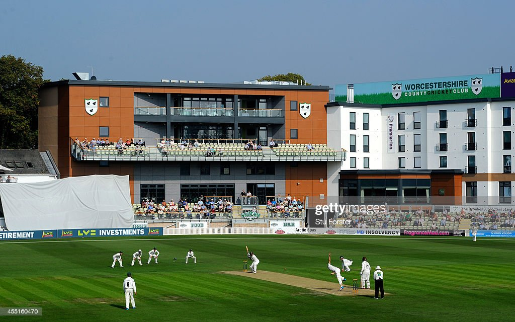 Aa general view of the new buildings at New Road during day two of the LV= County Championship Division Two match between Worcestershire and Surrey...