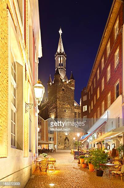 Aachen Town Hall At Night