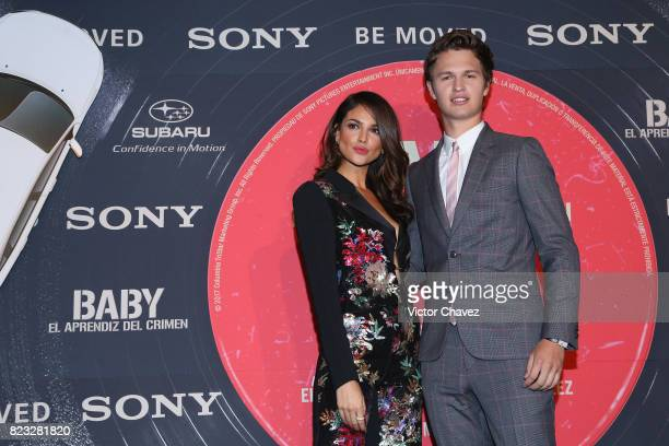 Aactress Eiza Gonzalez and actor Ansel Elgort attend the 'Baby Driver' Mexico City premier at Cinemex Antara Polanco on July 26 2017 in Mexico City...