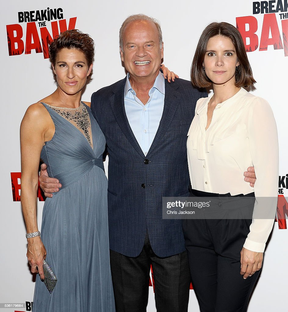 Aactress <a gi-track='captionPersonalityLinkClicked' href=/galleries/search?phrase=Tamsin+Greig&family=editorial&specificpeople=814015 ng-click='$event.stopPropagation()'>Tamsin Greig</a>, actor <a gi-track='captionPersonalityLinkClicked' href=/galleries/search?phrase=Kelsey+Grammer&family=editorial&specificpeople=210500 ng-click='$event.stopPropagation()'>Kelsey Grammer</a> and Sonya Cassidy attend the UK Gala Screening of 'Breaking the Bank' at Empire Leicester Square on May 31, 2016 in London, England.