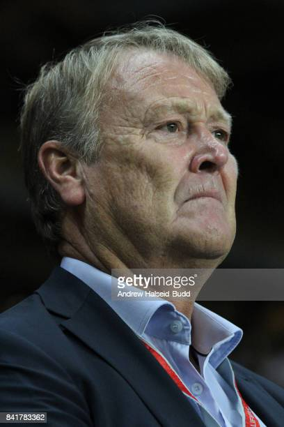 Aage Hareide the manager of Denmark before the FIFA 2018 World Cup Qualifier between Denmark and Poland at Parken Stadion on September 1 2017 in...