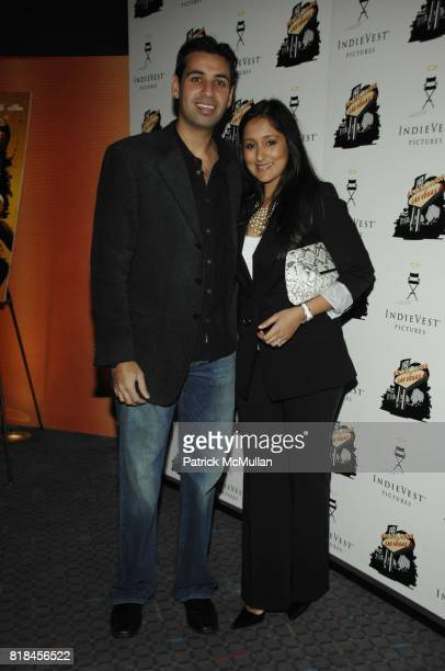 Aakash Shah and Purva Shah attend NY PREMIERE OF 'SAINT JOHN OF LAS VEGAS' at SVA Theater on January 16 2010 in New York City