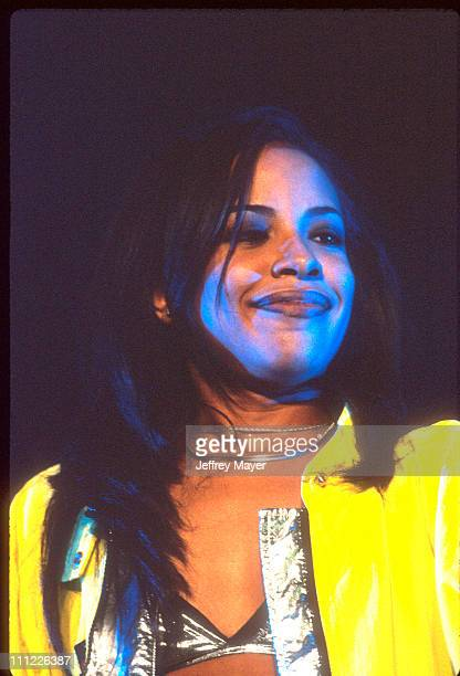 Aaliyah during Aaliyah at The Forum at The Forum in Inglewood California United States
