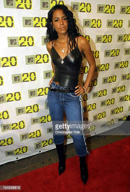Aaliyah during MTV 20th anneversery 812001 at MTV 20th Anniversary in New York NY United States