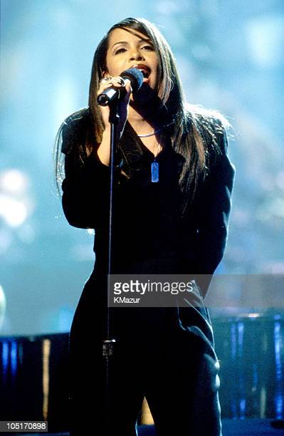 Aaliyah during TNT Presents A Gift of Song New York January 1 1997 in New York City New York United States