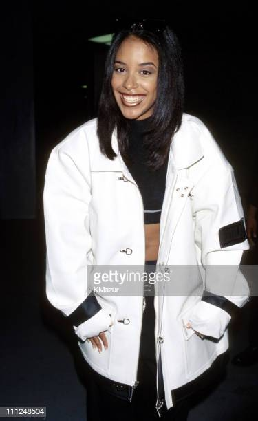 Aaliyah during Urban Aid 1 in New York City New York United States