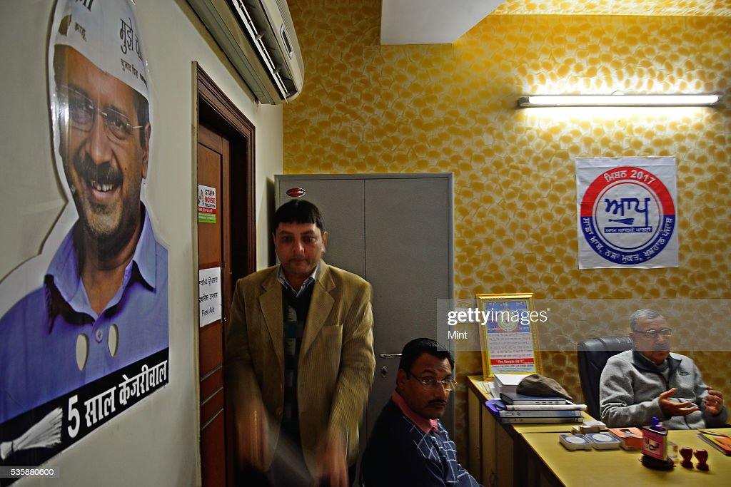 Aam Aadmi Party office located at BRS Nagar, on December 16, 2015 in Ludhiana, India. Punjab will go to the Assembly polls next year. What conventionally has been a two-sided contest between BJP-SAD and Congress is now set to turn into a triangular electoral fight by entry of Aam Aadmi Party.