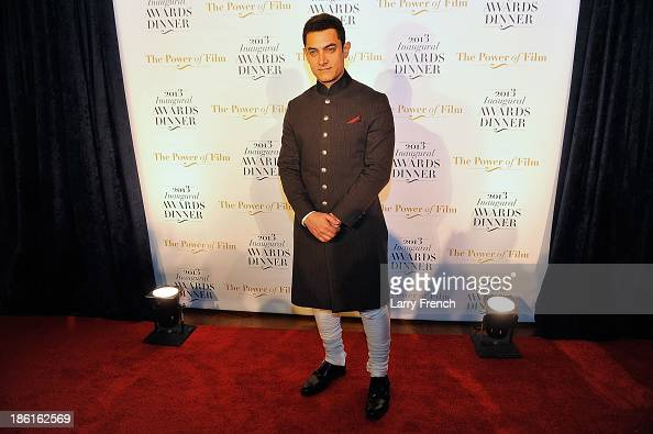Aamir Kahn attends the 2013 America Abroad Media Awards Dinner at Andrew W Mellon Auditorium on October 28 2013 in Washington DC