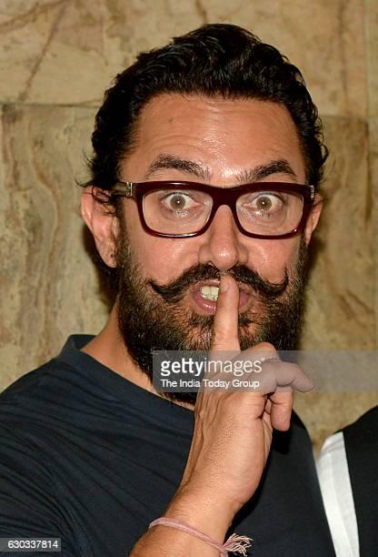 Aamir Khan during the special screening of his upcoming film Dangal in Mumbai