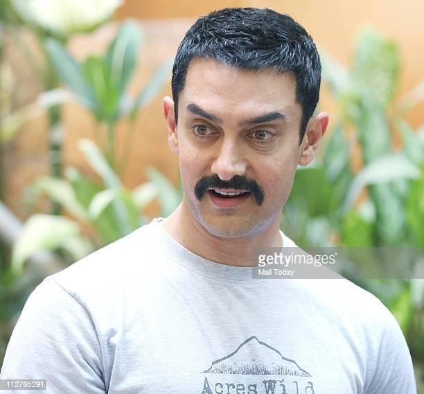 Aamir Khan promotes his upcoming film Zokkomon in Bandra