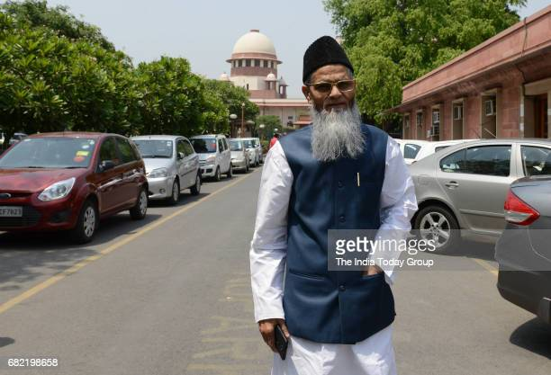 Aamir Rashadi Madni after the historic hearing on the constitutional validity of triple talaq at the Supreme Court in New Delhi