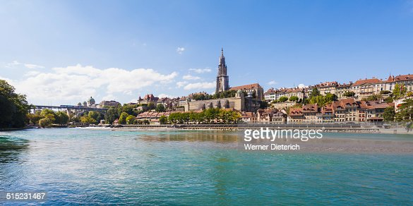 Aare river and cityscape of Bern, Switzerland