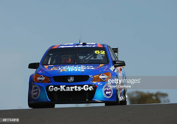Aaren Russell drives the Novocastrian Motorosport Holden during practice for the Bathurst 1000 which is race 25 of the V8 Supercars Championship at...
