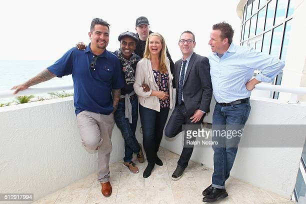 Aarón Sánchez Marcus Samuelsson Chris Santos Amanda Freitag Ted Allen and Marc Murphy attend the Bloody Mary Brunch Hosted By The Cast Of Chopped...