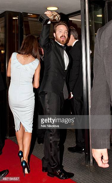 Aaro Paul arrives at the Arqiva British Academy Television Awards after party held at the Grosvenor house Park Lane on May 18 2014 in London England