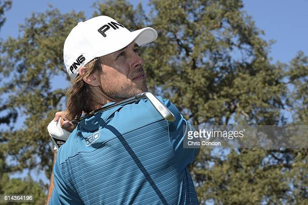Aaron Baddeley of Australia with his new Ping gear during practice for the Safeway Open at Silverado Country Club on October 11 2016 in Napa...