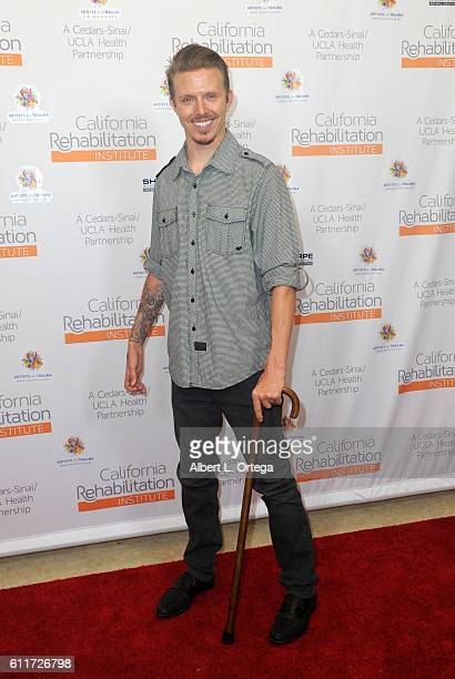 Aaron Baker arrives for the Artists For Trauma's 'Rebranding Disability' held at California Rehabilitation Institute on September 30 2016 in Century...