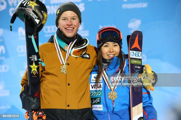 Aaron Blunck of USA wins the gold medal Ayana Onozuka of Japan wins the gold medal during the FIS Freestyle Ski Snowboard World Championships...